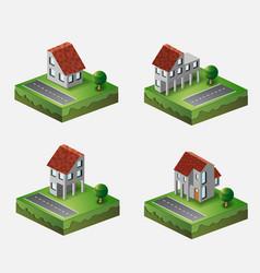 Village houses vector