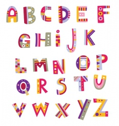 Whimsical alphabet vector