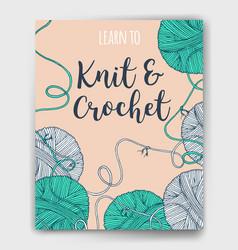 Yarn balls book cover vector