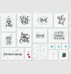 year lettering typography set vector image