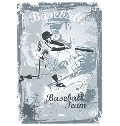 base ball grunge vector image