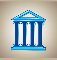 historical building sky blue vector image
