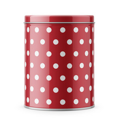 round glossy tin can template vector image vector image