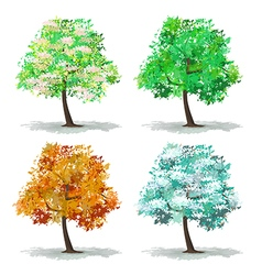 set of abstract tree vector image