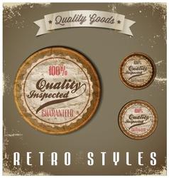 Vintage Labels template set Retro logo design vector image vector image