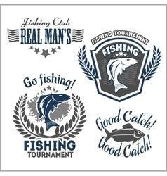 Fishing emblems badges and design elements vector image