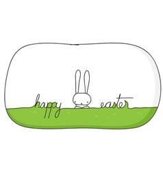 happy bunny easter vector image vector image