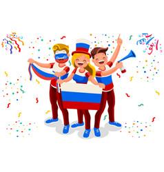 russian football team flag vector image vector image
