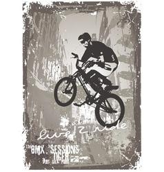 street biker BMX vector image vector image