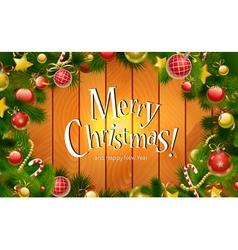 Beautiful Christmas Wood Background vector image