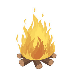 bonfiretent single icon in cartoon style vector image