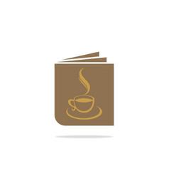 book menu coffee logo vector image