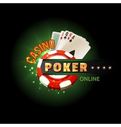 Casino poker online poster vector image
