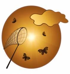 catching of butterflies vector image