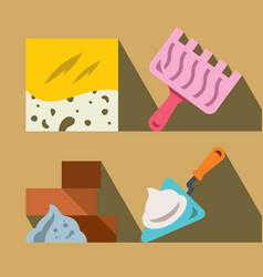 construction tools and materials flat vector image