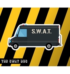 Swat police bus vector image vector image
