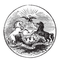 the official seal of the us state of pennsylvania vector image