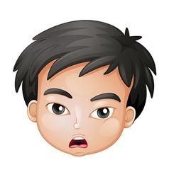 A head of a young boy vector image vector image