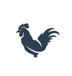 Cock logo on white background - stock vector image vector image