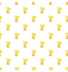 Cup in hand pattern cartoon style vector image vector image