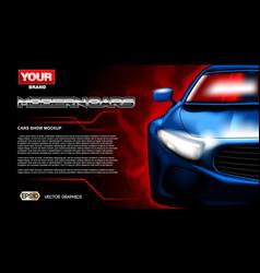 digital blue new modern sport car vector image