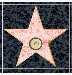 hollywood music walk of fame vector image