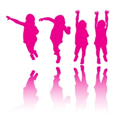 Little girl modeling or dancing vector image vector image