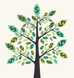 Money tree success concept vector image vector image