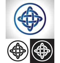 Quarternary celtic knot design vector image vector image