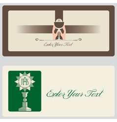 Religion - Invitation Cards vector image vector image