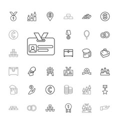 33 gold icons vector