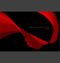 Abstract red colors curved scene vector