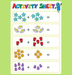 Activity sheet topic image 4 vector