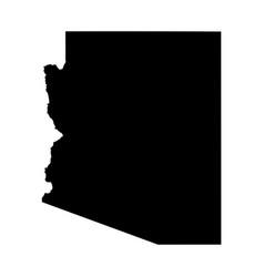Arizona az state map usa black silhouette solid vector