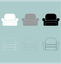 Armchair or easy chair icon vector