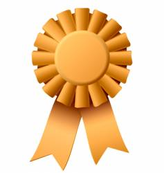 award ribbon vector image vector image