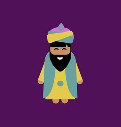 Bearded king wearing sunglasses vector