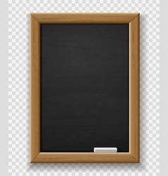 blank blackboard realistic black chalkboard vector image