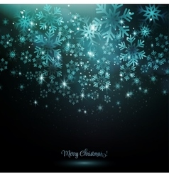 Blue snowflake on a dark background vector