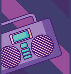 boombox stereo icon vector image