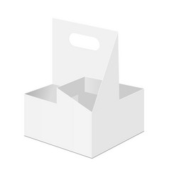Cardboard drink holder isolated vector