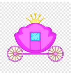 Carriage icon cartoon style vector