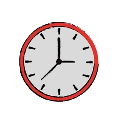 Cartoon clock time watch work icon vector