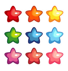 cartoon shiny stars vector image