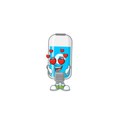 Charming wall hand sanitizer cartoon character vector