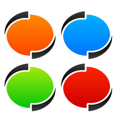 Circle oval ellipse design elements backgrounds vector