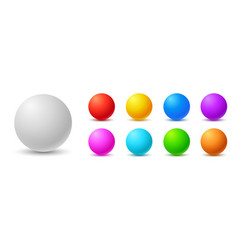 colorful balls 3d ball set glossy spheres vector image