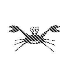 Crab sign on white vector