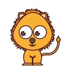cute lion tender character vector image