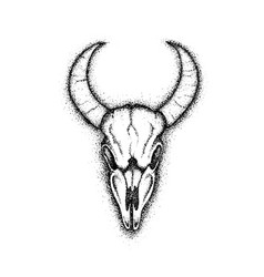 Dotwork cow skull vector